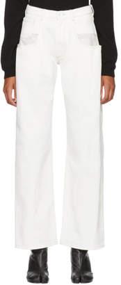 Maison Margiela White Canvas Jeans