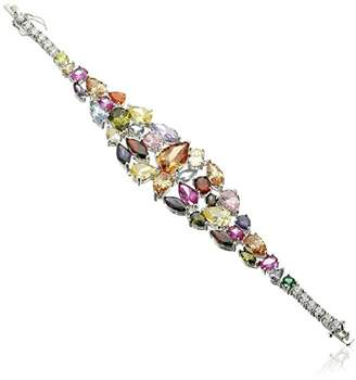 Kenneth Jay Lane CZ by Trend colored Cubic Zirconia Graduated Statement Bracelet