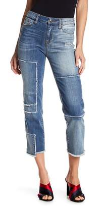 True Religion High Waist Stovepipe Deconstructed Jeans