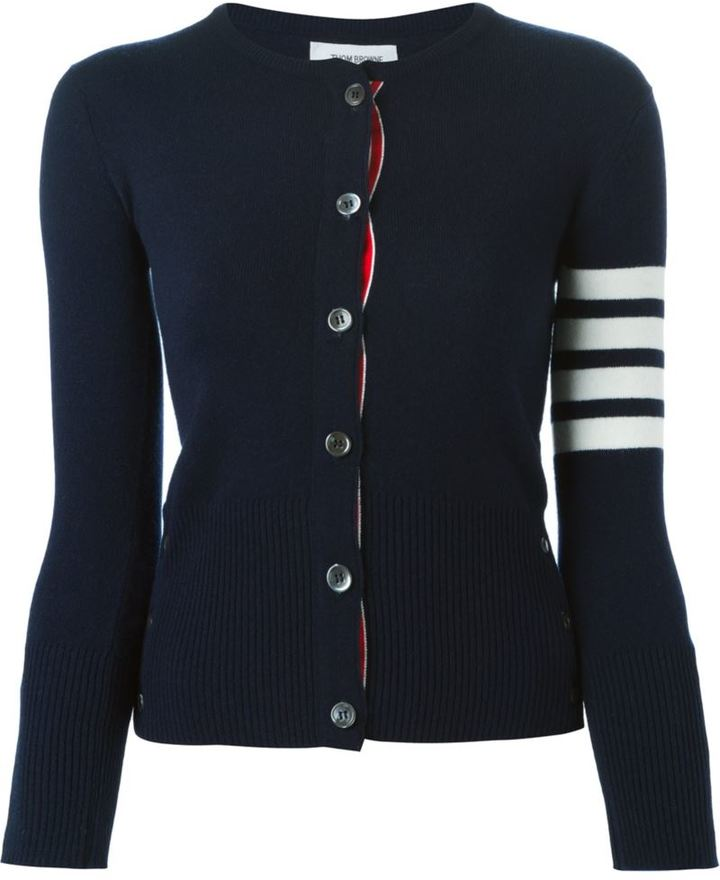 Thom Browne 4-bar stripe cardigan