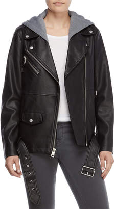 Levi's Oversize Hooded Faux Leather Jacket