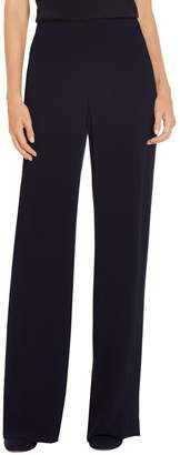St. John Lightweight Satin Back Crepe Straight Leg Pant