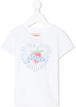 Levi's Kids logo heart pattern T-shirt