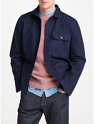 John Lewis & Partners Denim French Workwear Shirt Jacket, Navy