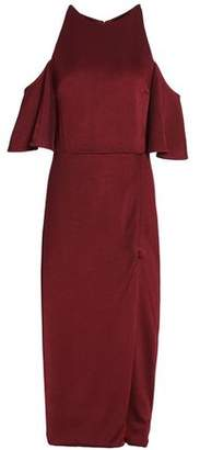 Cushnie et Ochs Mona Cold-shoulder Stretch-silk Midi Dress