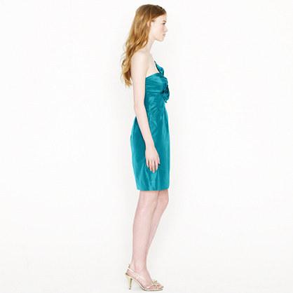 Bow monde dress in silk taffeta 3