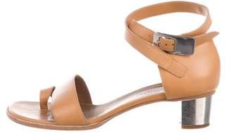 Hermes Leather Ankle-Strap Sandals