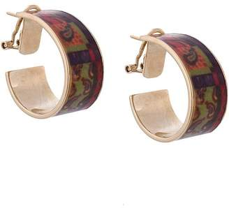 Etro decorative plated earring