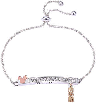 7aba47811a Disney Crystal Pure Silver Over Brass Mickey Mouse Bangle Bracelet