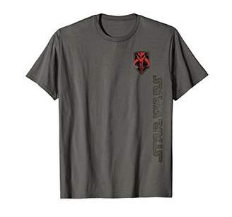 Star Wars Boba Mark of the Mandalorian Warriar Badge T-Shirt