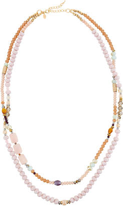 Greenbeads Lavender Single-Strand Necklace w/ Dangles kWaDwE