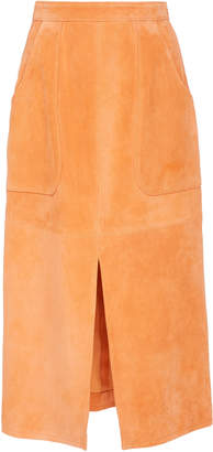 Sally Lapointe Suede A- Line Skirt