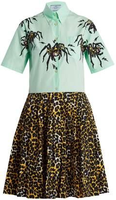 Prada Spider and leopard-print shirtdress