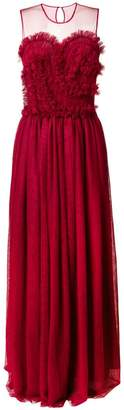 P.A.R.O.S.H. sleeveless flared maxi dress