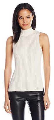 Kensie Women's Cotton Blend Sleeveless Mock Neck Sweater Shell $34.36 thestylecure.com