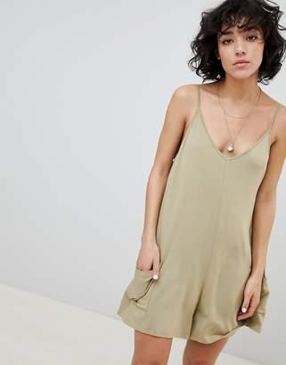 Asos DESIGN Jersey Minimal Romper With Pockets
