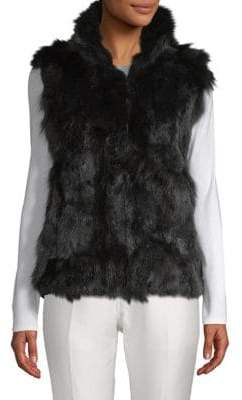 Adrienne Landau Dyed Fox and Rabbit Fur Vest