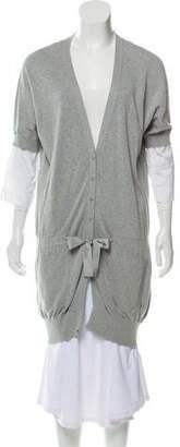 Brunello Cucinelli Short Sleeve Button-Up Cardigan