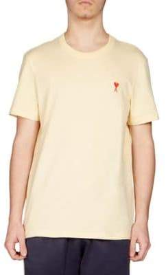 Ami Cotton Embroidered Tee