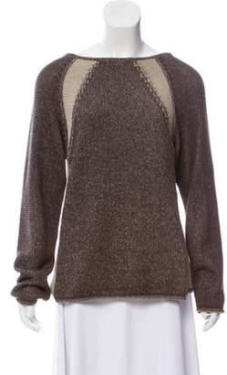 Malo Casual Knit Sweater Tan Casual Knit Sweater
