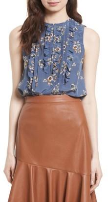Women's Rebecca Taylor Silk Sleeveless Top $250 thestylecure.com