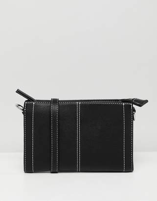 Pieces Trish small crossbody handbag with contrast stitching