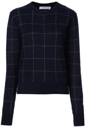 Vince window pane crew sweater
