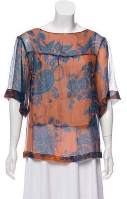 Dries Van Noten Semi-Sheer Silk Blouse