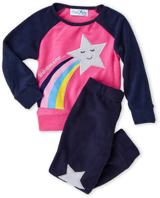 Freestyle Toddler Girls) 3-Piece Fleece Top, Pant & Purse PJ Set