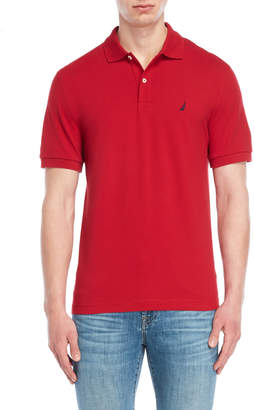 Nautica Solid Stretch Pique Polo