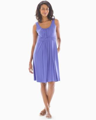 Soft Jersey Sleeveless Wrap Dress Blue Iris