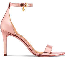 Tory Burch Ellie Metallic Ankle-Strap Sandals