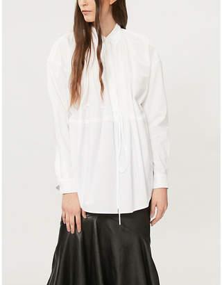 Chalayan Drawstring-waist cotton-poplin shirt