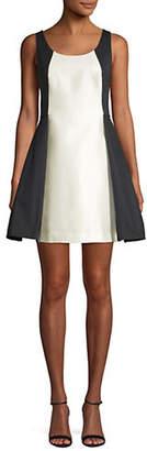 Halston H Colourblock A-Line Dress