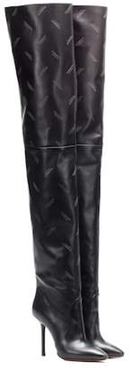 Vetements Leather over-the-knee boots