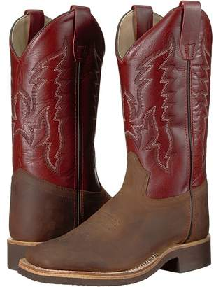 Old West Kids Boots Broad Square Toe Crepe Cowboy Boots