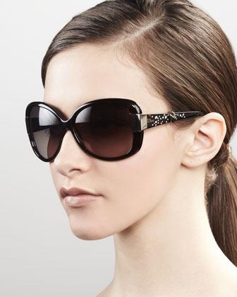 Christian Dior Midnight Crystal Sunglasses, Dark Havana