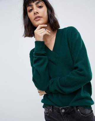 Asos 100% cashmere sweater with v-neck