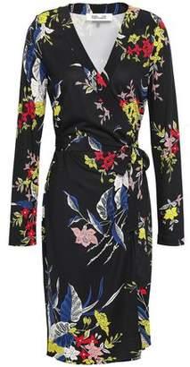 Diane von Furstenberg Julian Floral-Print Silk-Jersey Wrap Dress