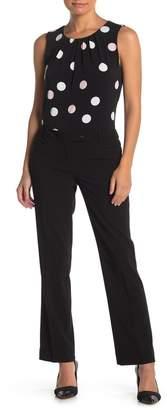 Calvin Klein Straight Leg Suit Pants (Petite)