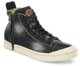 Diesel Nentish Zip-Round Denim Mid-Top Sneakers