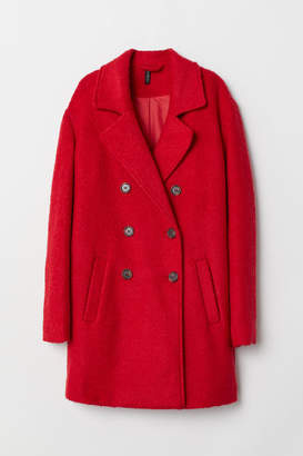 H&M Wool-blend Coat - Red