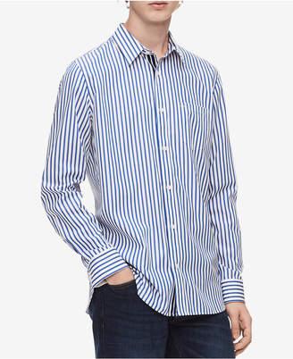Calvin Klein Men Striped Set-On Placket Shirt