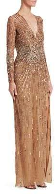Murad Zuhair Plunge Embroidered Gown