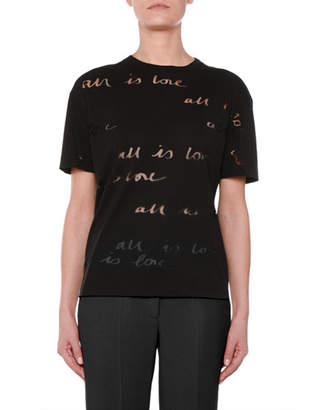 Stella McCartney All is Love Burnout Short-Sleeve T-Shirt