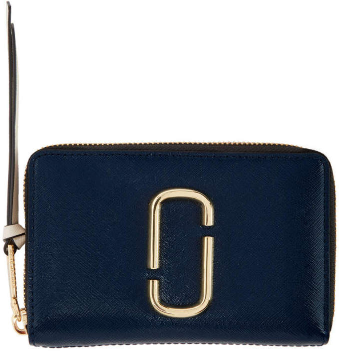 Marc Jacobs Navy Small Snapshot Wallet