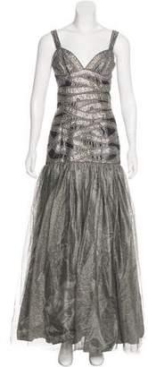 Naeem Khan Silk Metallic Gown