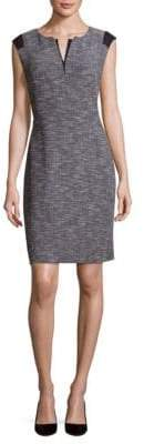 Lafayette 148 New York Zelina Split-Neck Sheath Dress
