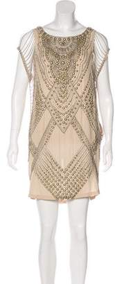 Haute Hippie Studded Mini Dress