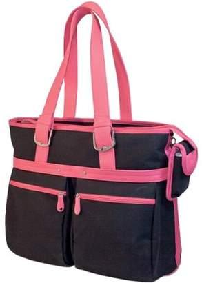 "Mobile Edge 16"" Eco-Friendly Tote - 14"" x 17.5"" x 7"" - Cotton Canvas - Black, Pink"